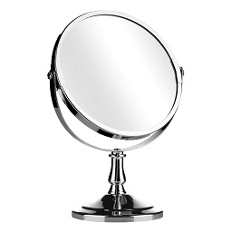 Prime Furnishing Swivel Mirror With Magnifying Option, Chrome