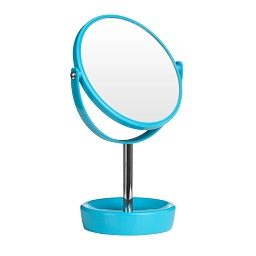 Swivel Table Mirror Plastic Chrome With Magnifying Option (Turqu