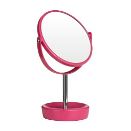 Swivel Table Mirror Plastic Chrome With Magnifying Option (Hot P