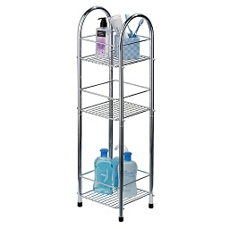 Prime Furnishing 3-Tier Storage Stand, Chrome
