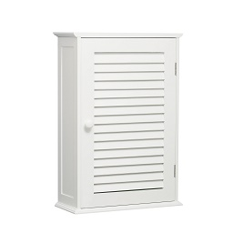 Bathroom Wall Cabinet with Single Shutter Door -White