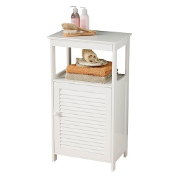 Floorstanding Cabinet, White Wood