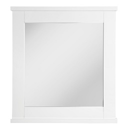 Prime Furnishing Wall Mirror - White Wood