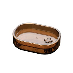 Prime Furnishing Soap Dish Plastic Smoke Brown