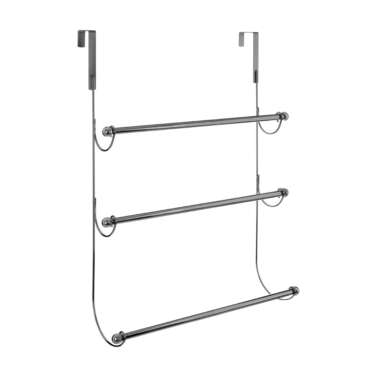 Prime Furnishing 3-Tier Over Door Hanging Towel Rail - Chrome