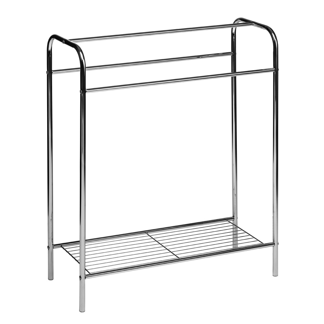 Prime Furnishing Floor Standing Towel Stand, Chrome