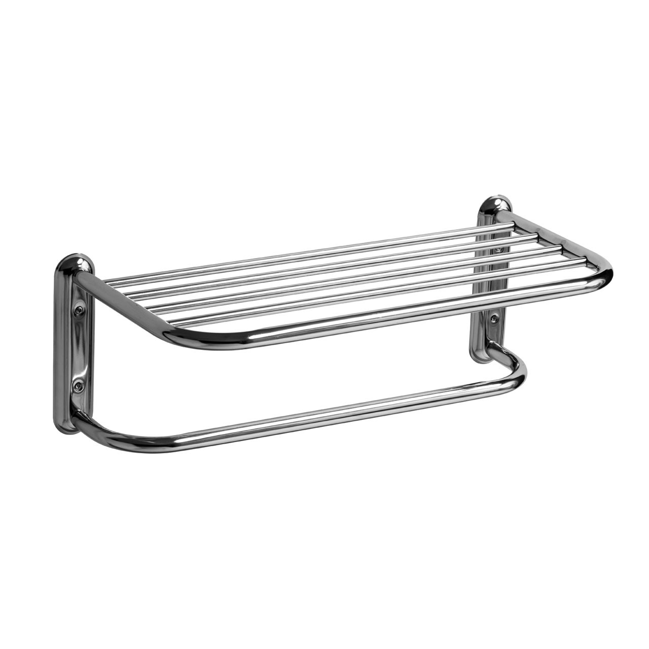 Prime Furnishing Wall Mountable Towel Shelf, Chrome
