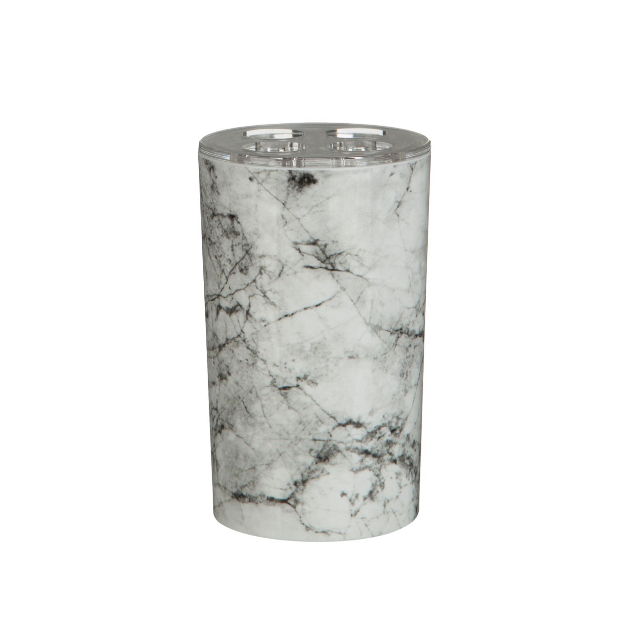Prime Furnishing Rome Marble Effect Toothbrush Holder, Plastic
