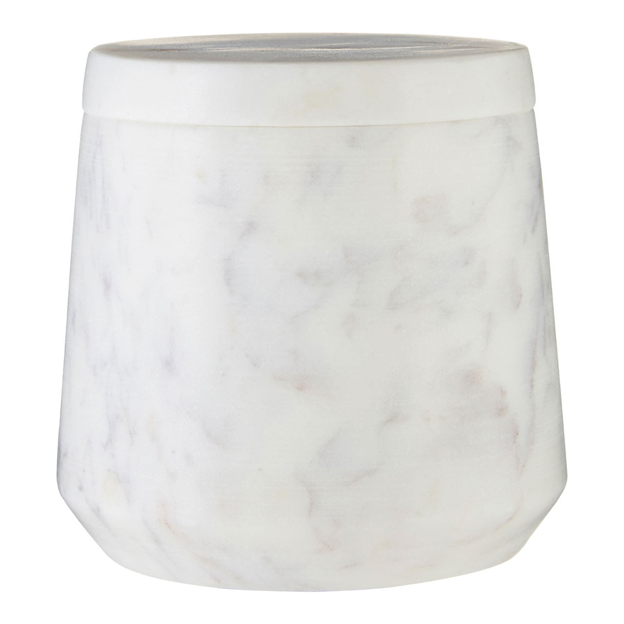 Prime Furnishing Marble Cotton Jar - Off-white