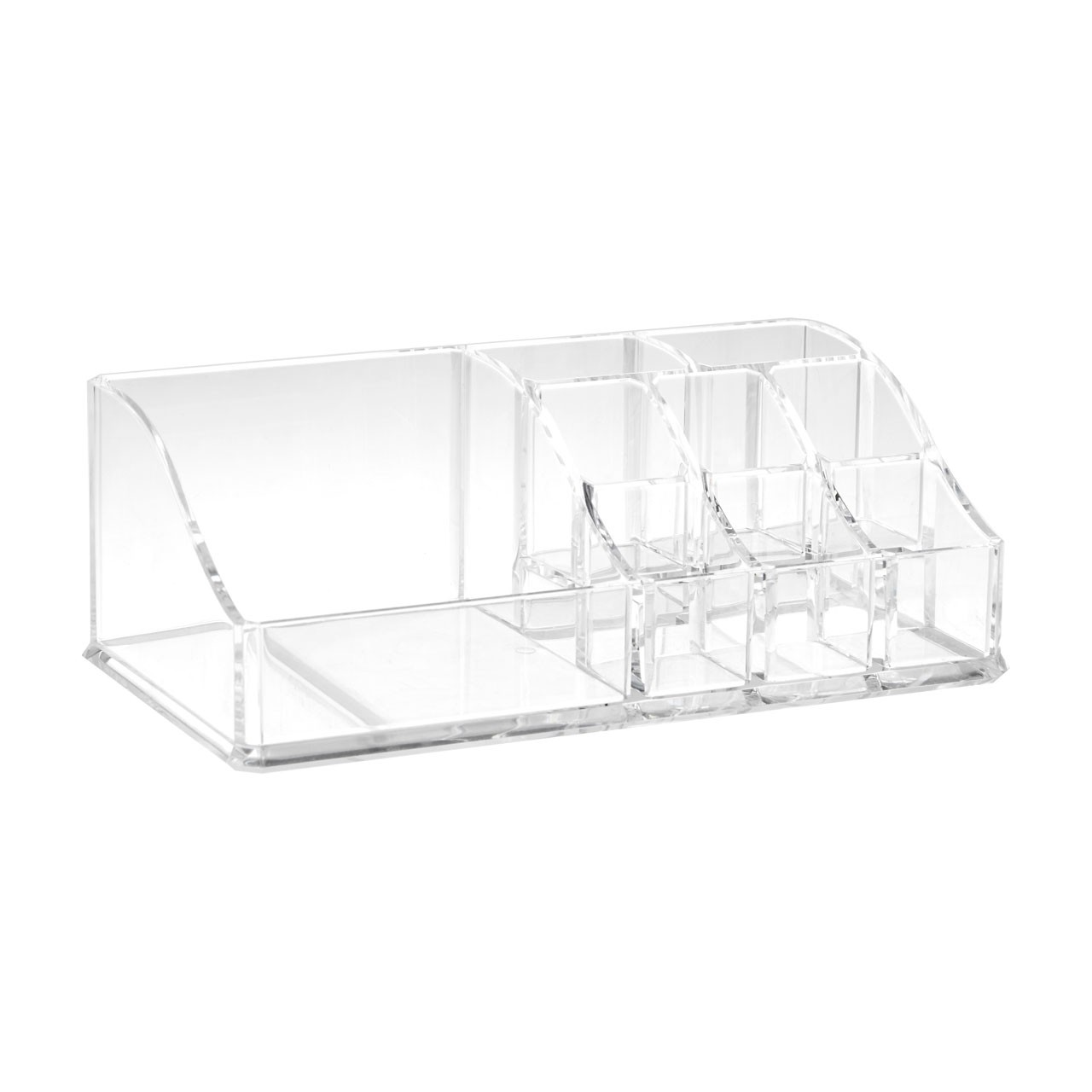 Prime Furnishing 9 Compartment Cosmetics Organiser - Clear
