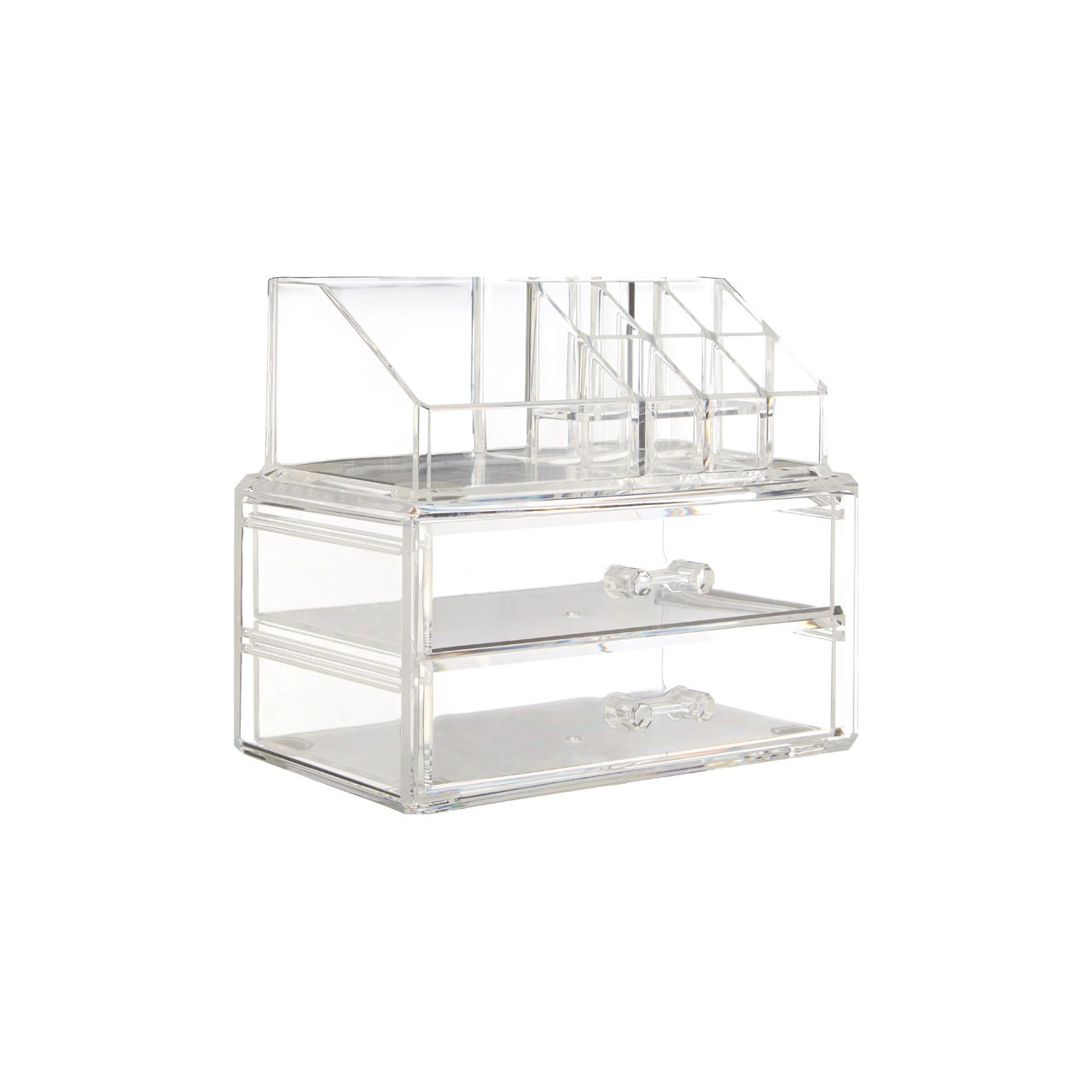 Prime Furnishing 10 Compartment Cosmetics Organiser - Clear