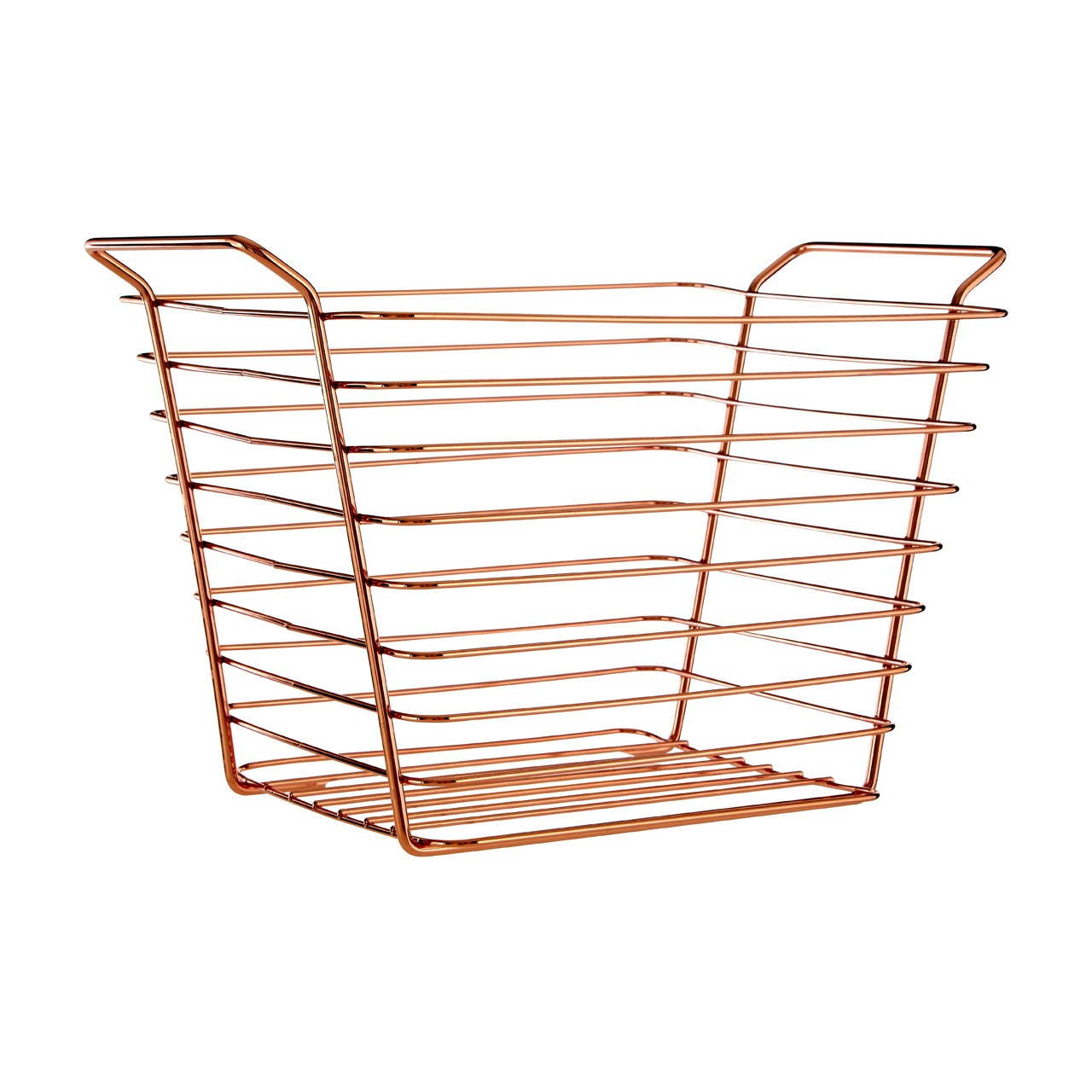 Prime Furnishing Shine Wire Basket - Gold