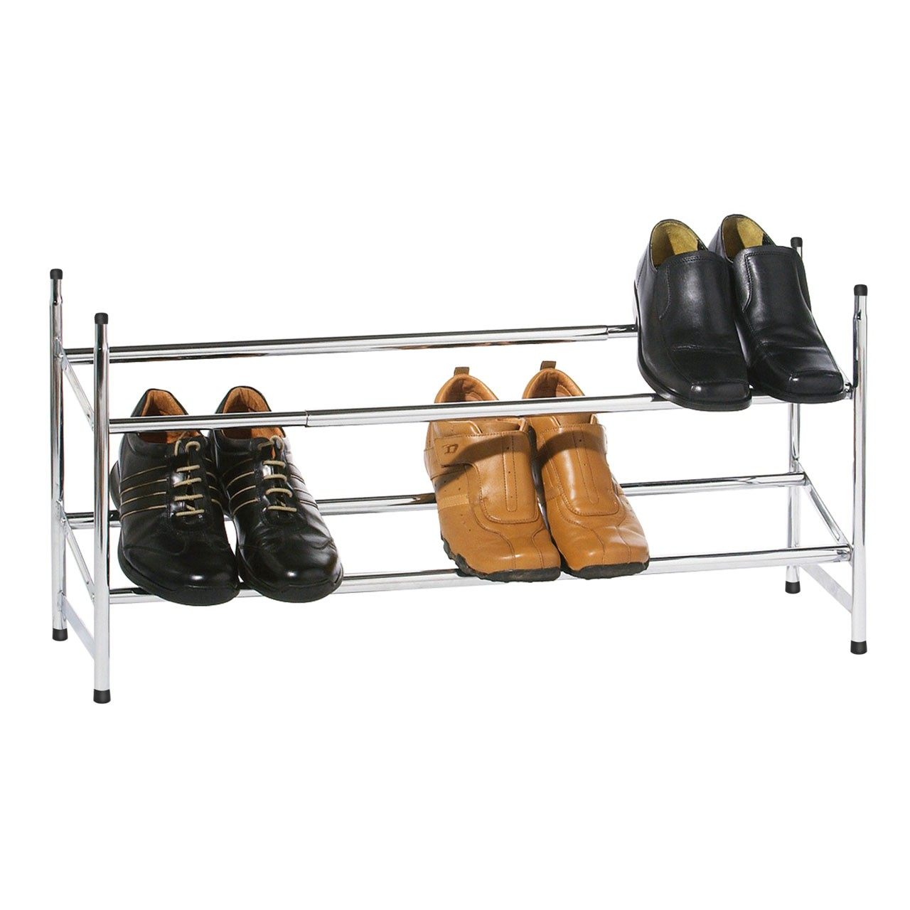 Prime Furnishing 2-Tier Extendable & Stackable Frame Shoe Rack