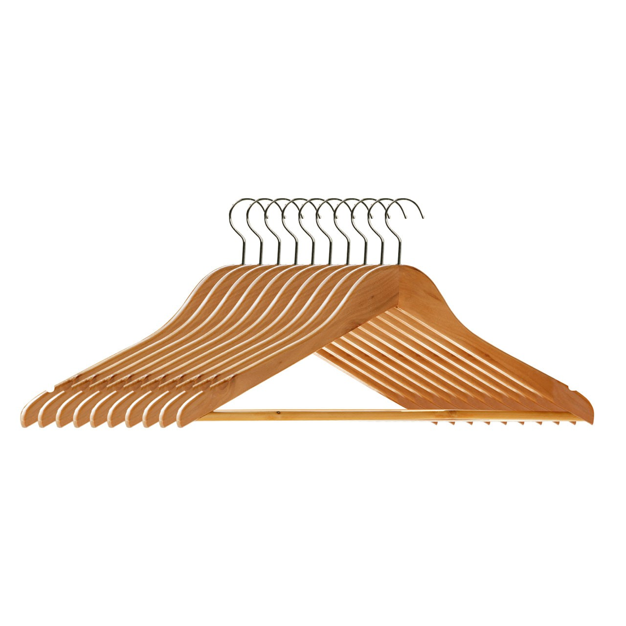 Wooden Clothes Hangers , Set of 20