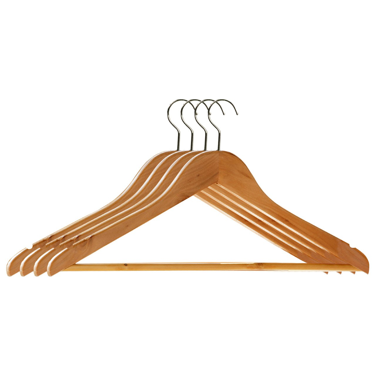 Prime Furnishing Wooden Clothes Hangers - Set of 4