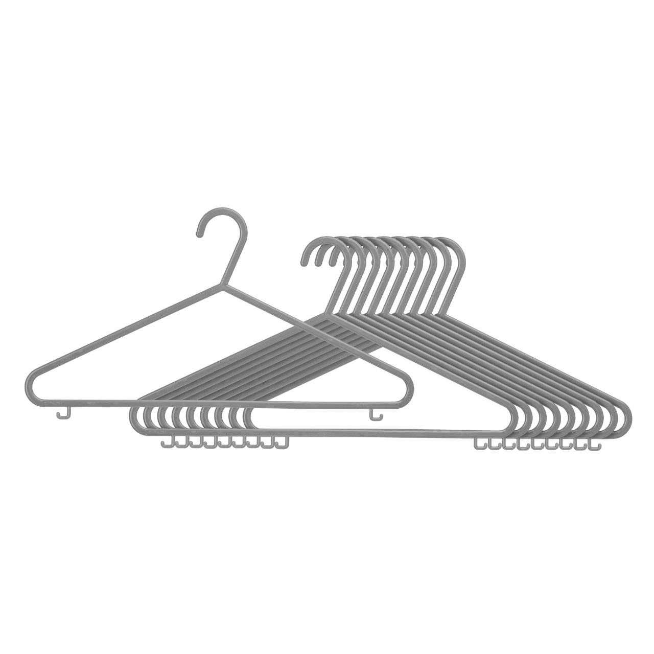 Plastic Hangers - Set of 20- Grey