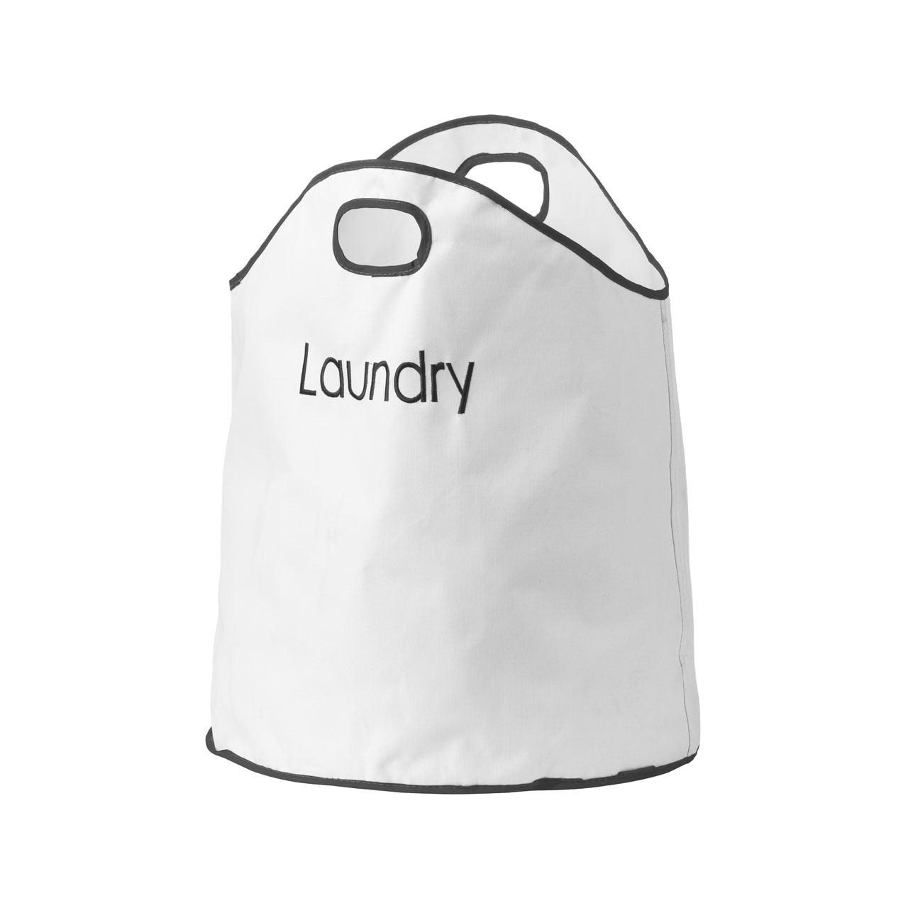 Prime Furnishing Polyester Laundry Bag, Dual Handled - Cream