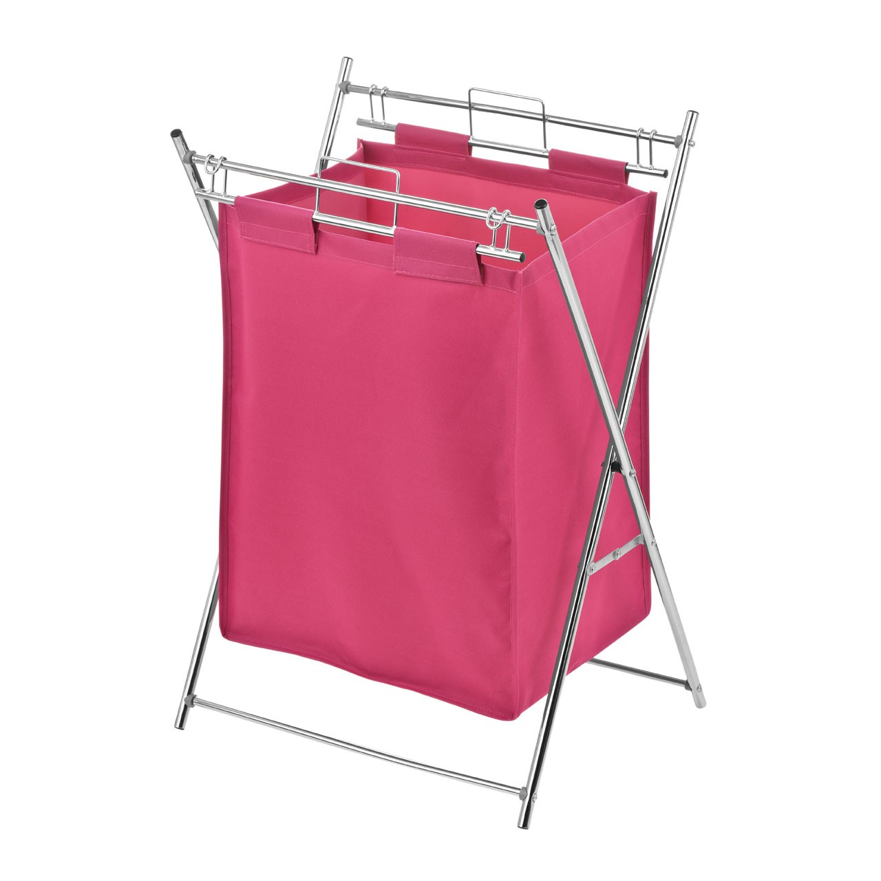 Laundry Bag with Chrome Frame - Pink