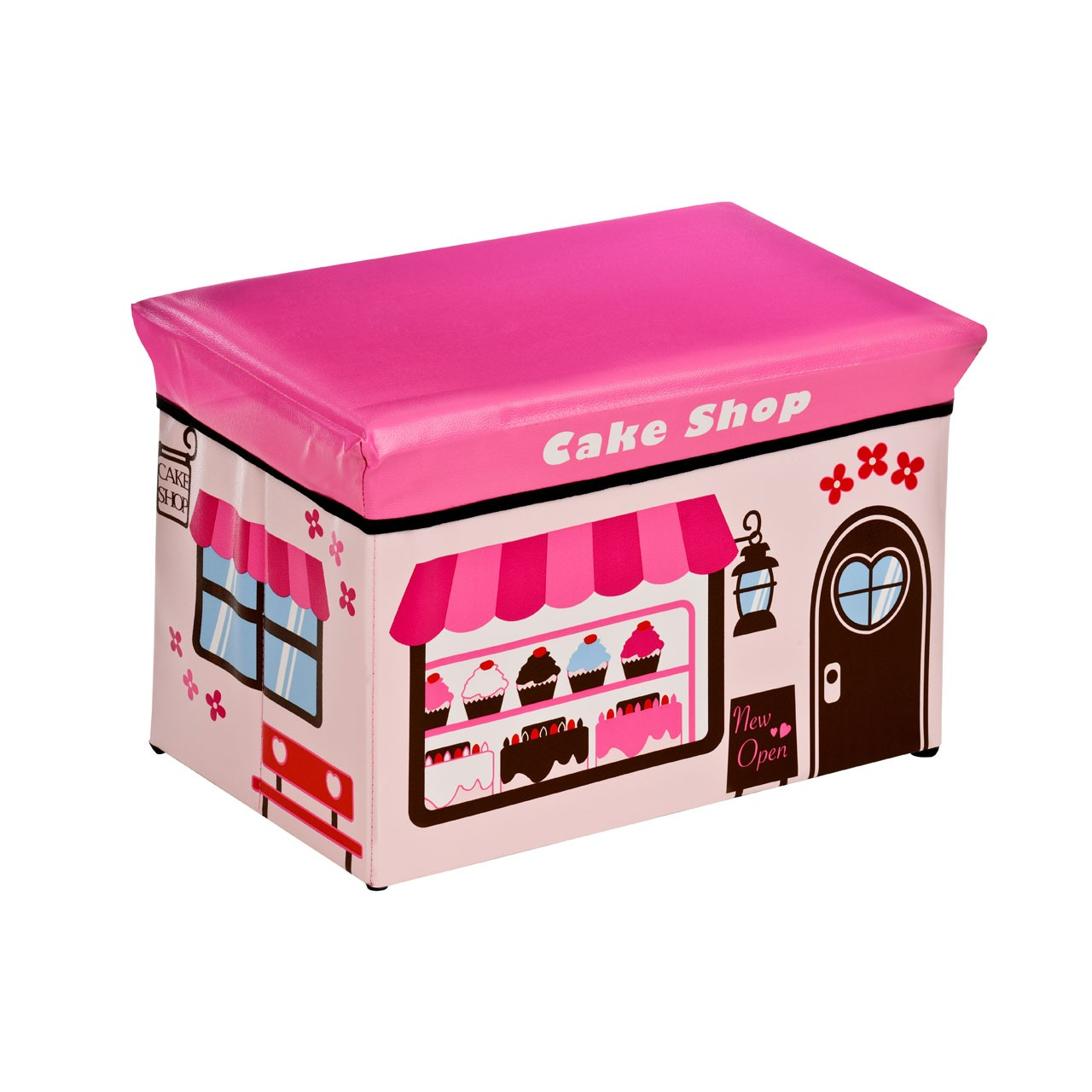 Cake Shop Design Children's Storage Box/Seat, Pink
