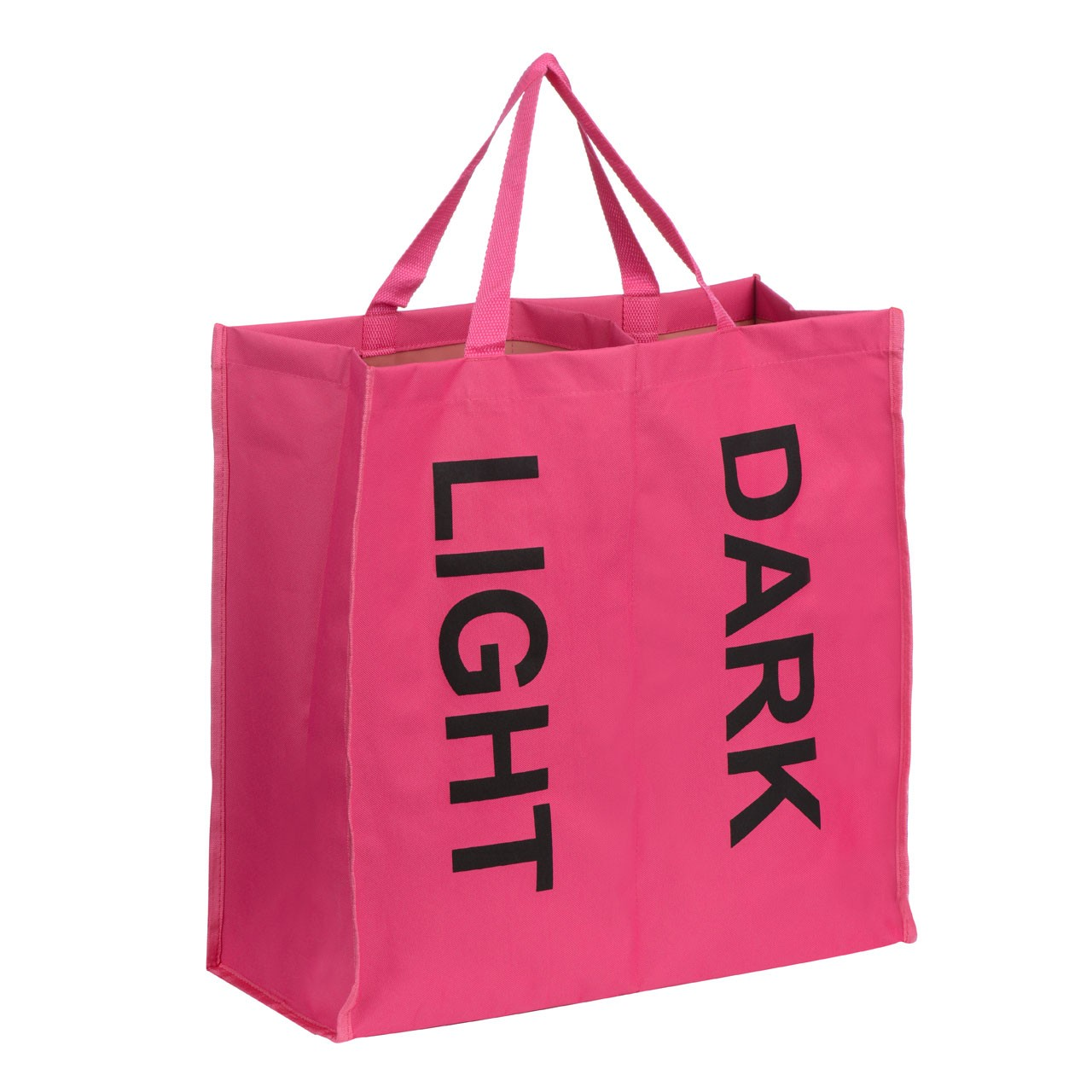 Prime Furnishing 2 Section Polyester Laundry Bag - Hot Pink