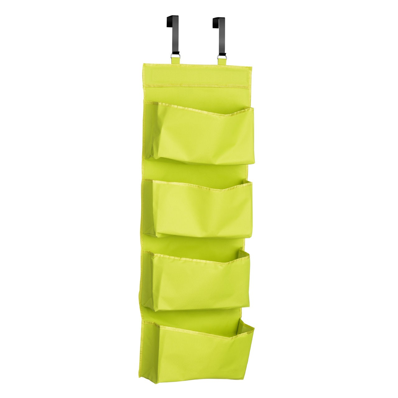Prime Furnishing 4 Tier Over Door Hanging Organiser - Lime Green