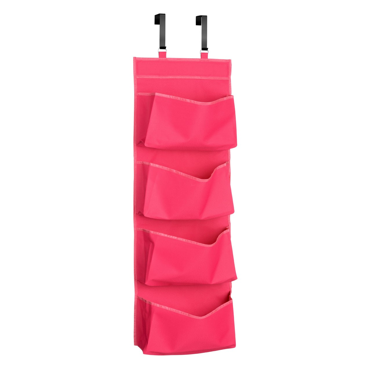 Prime Furnishing 4-Tier Over Door Hanging Organiser - Hot Pink