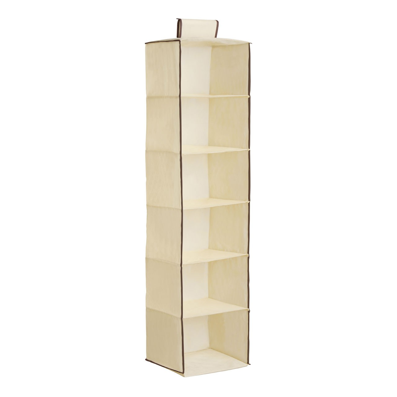 6-Section Hanging Garment Organiser - Cream