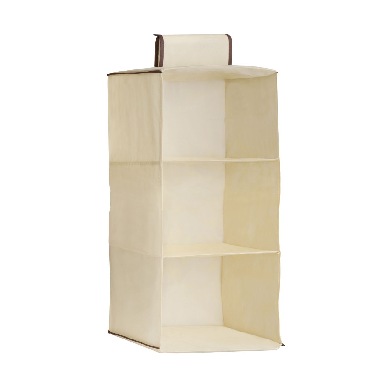 3 Section Hanging Garment Organiser - Cream