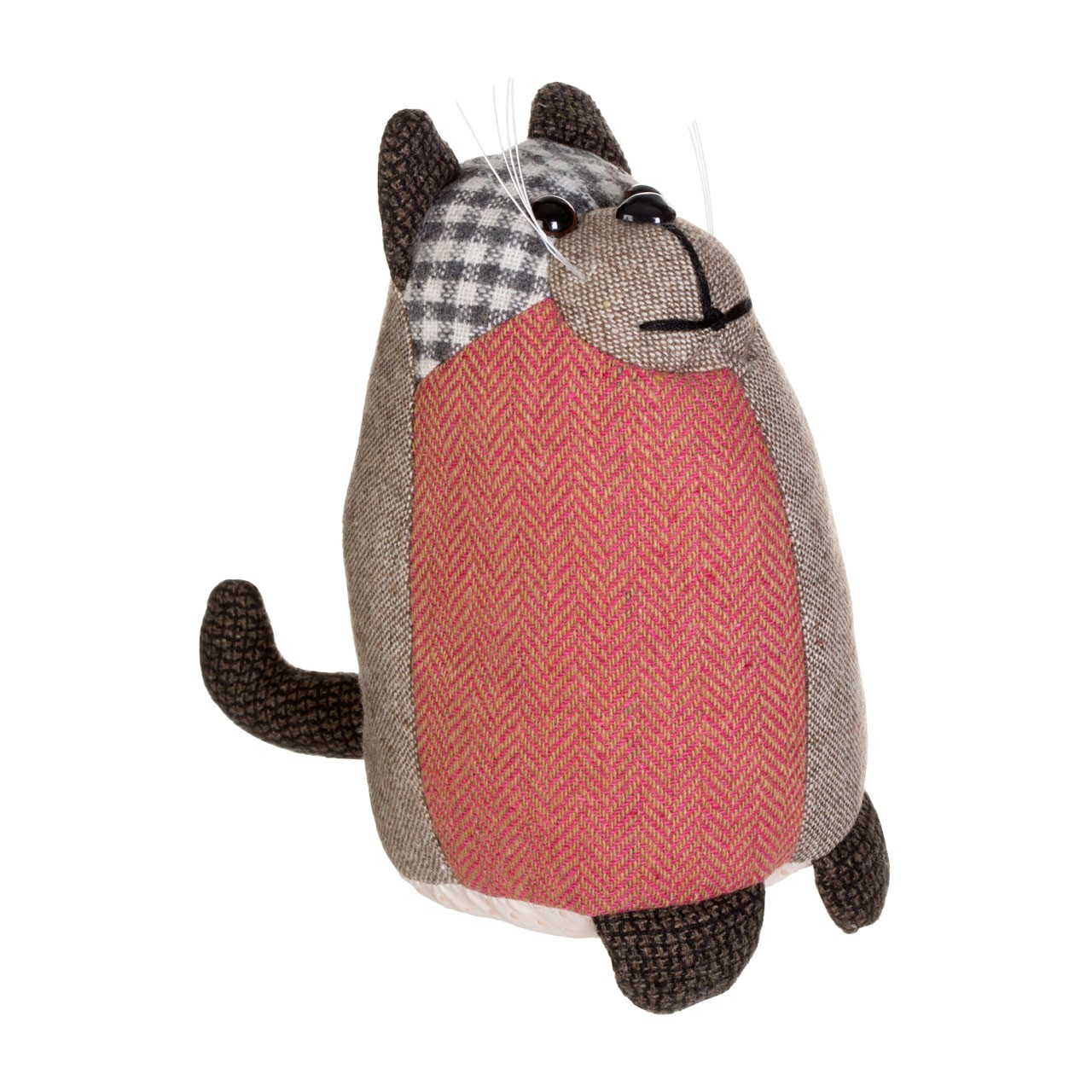 Prime Furnishing Heritage Cat Door Stop - Brown
