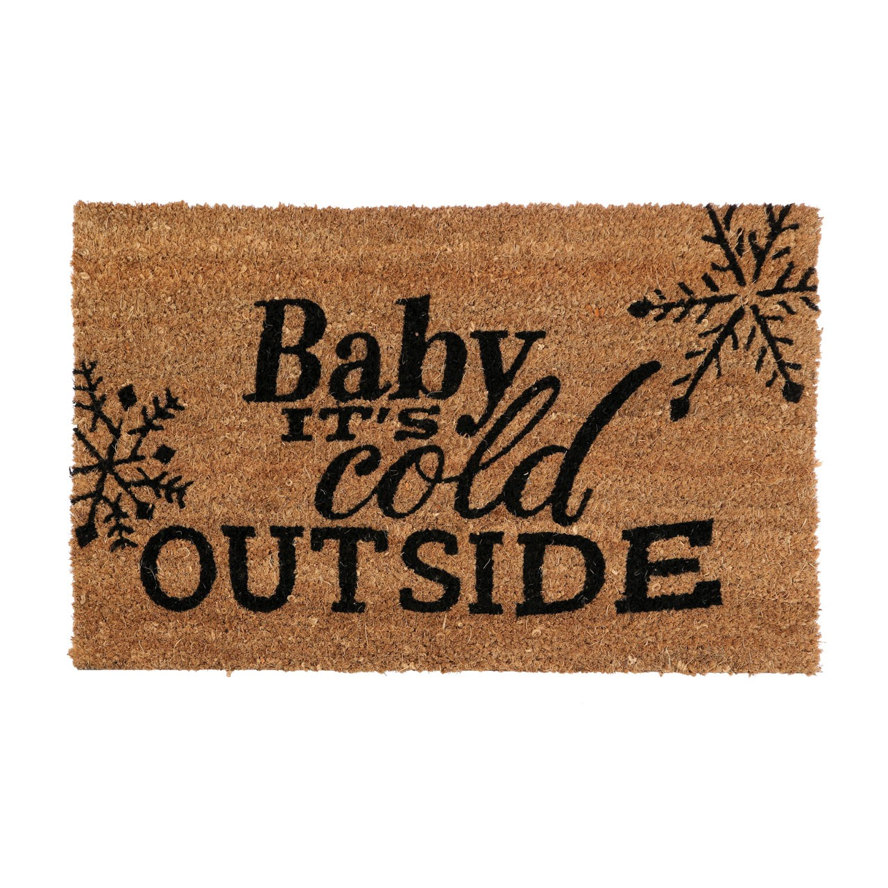 "Prime Furnishing ""Cold Outside"" Doormat, PVC Backed Coir"