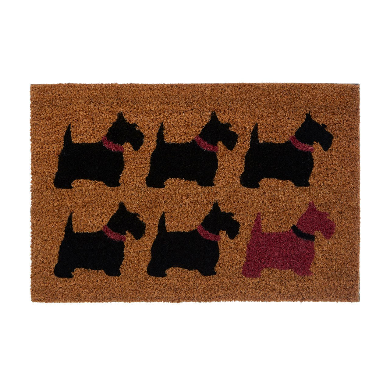 "Prime Furnishing ""Scottie Dog"" Doormat, PVC Backed Coir"