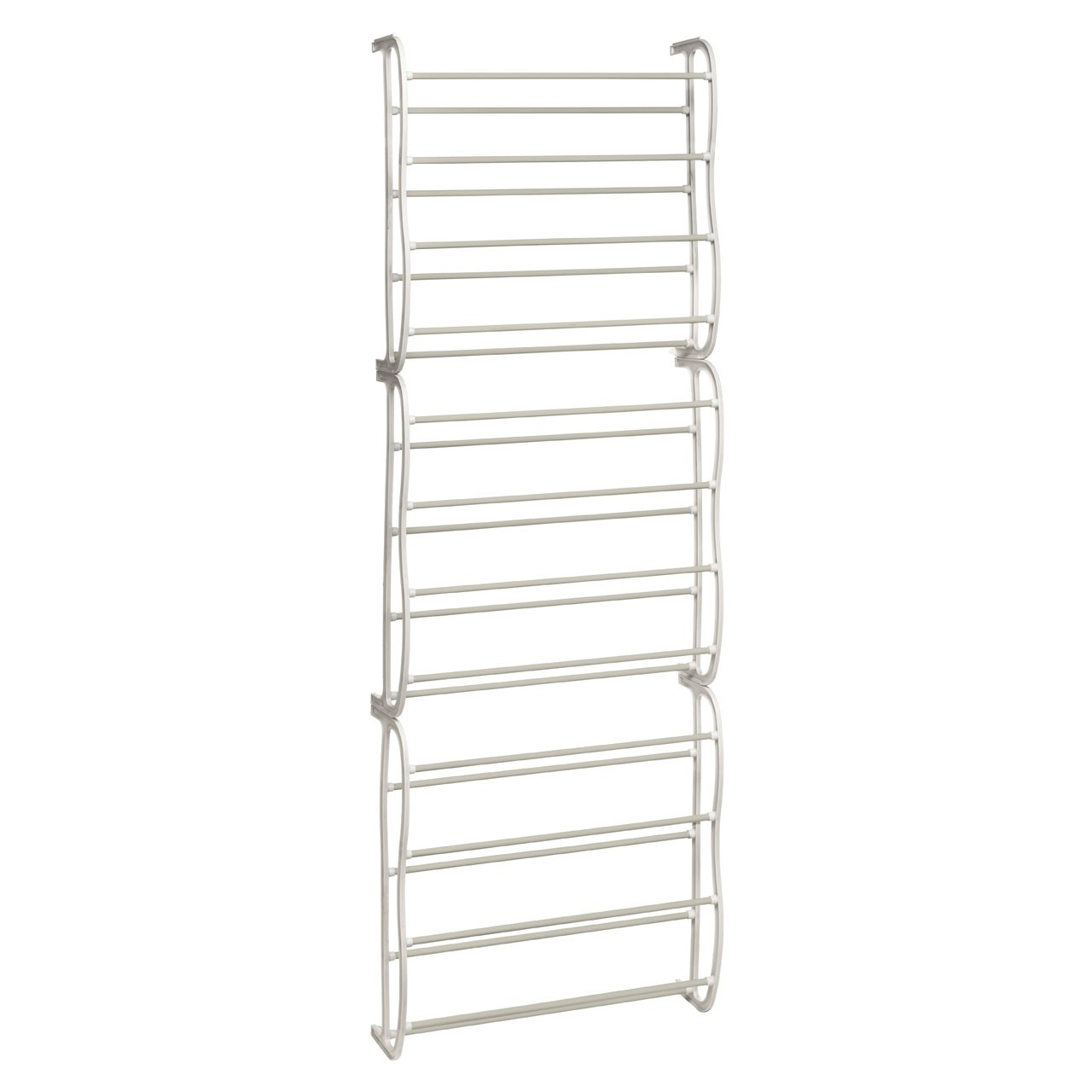 Prime Furnishing 12 -Tier Over Door Shoe Rack, White