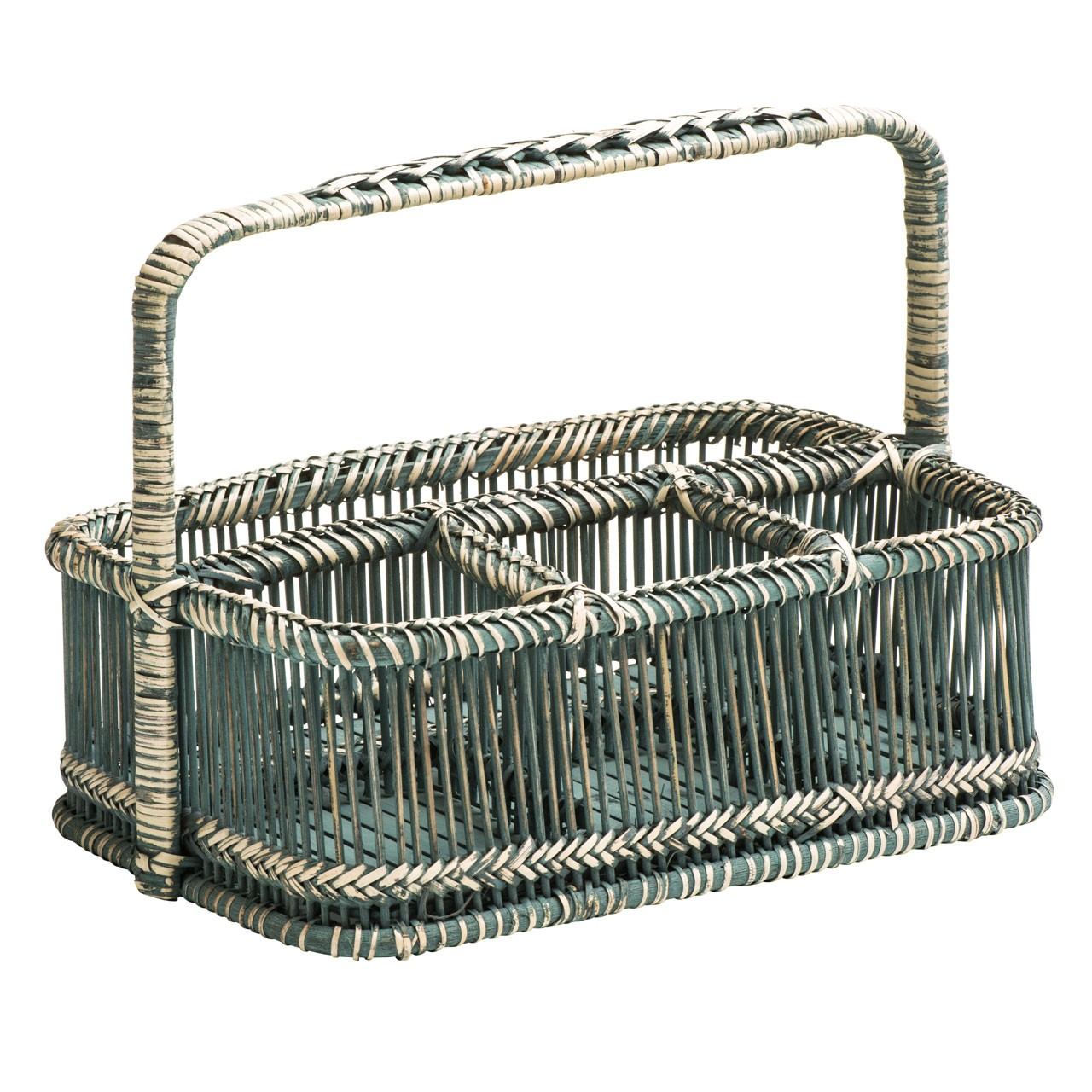 Prime Furnishing Rectangular Caddy Basket, Rattan/Bamboo