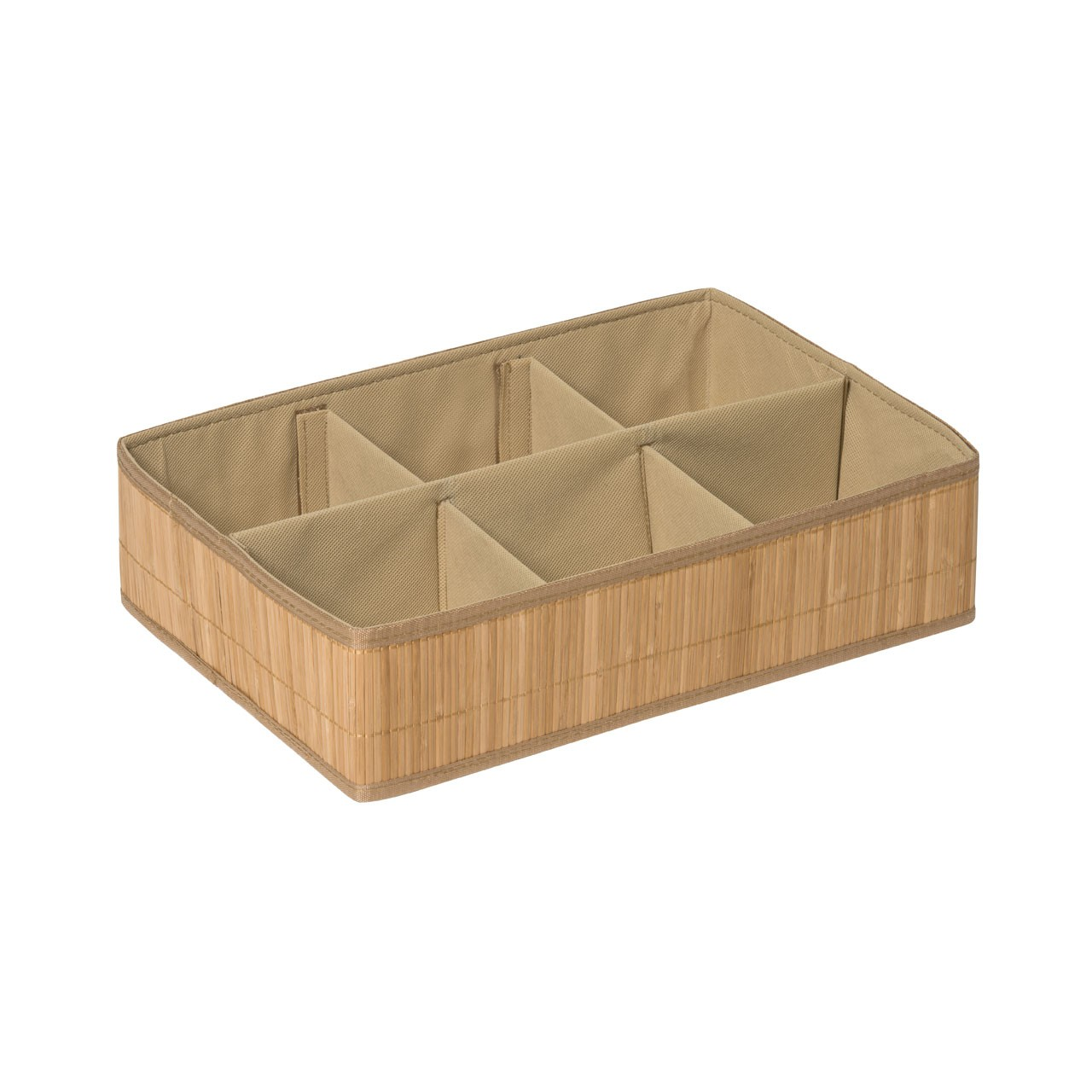 Prime Furnishing Kankyo 6 Sections Storage Box - Natural