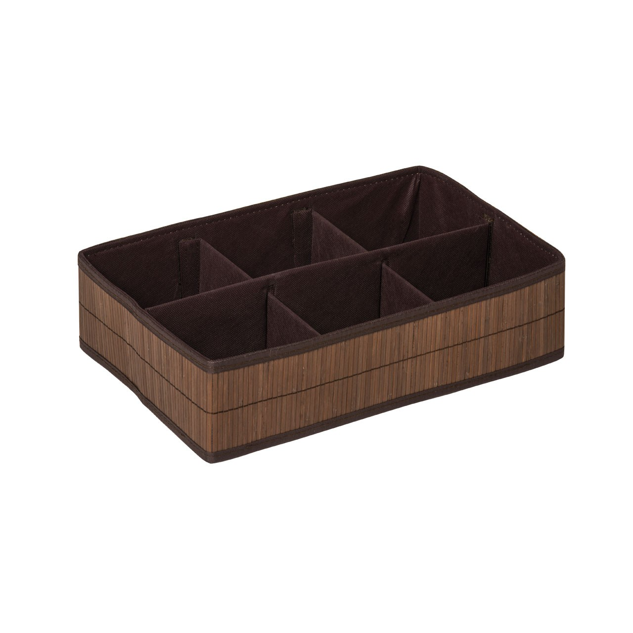 Prime Furnishing Kankyo 6 Sections Storage Box - Dark Brown