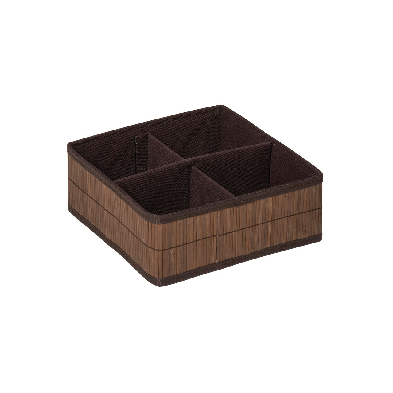Prime Furnishing Kankyo 4 Sections Storage Box - Dark Brown