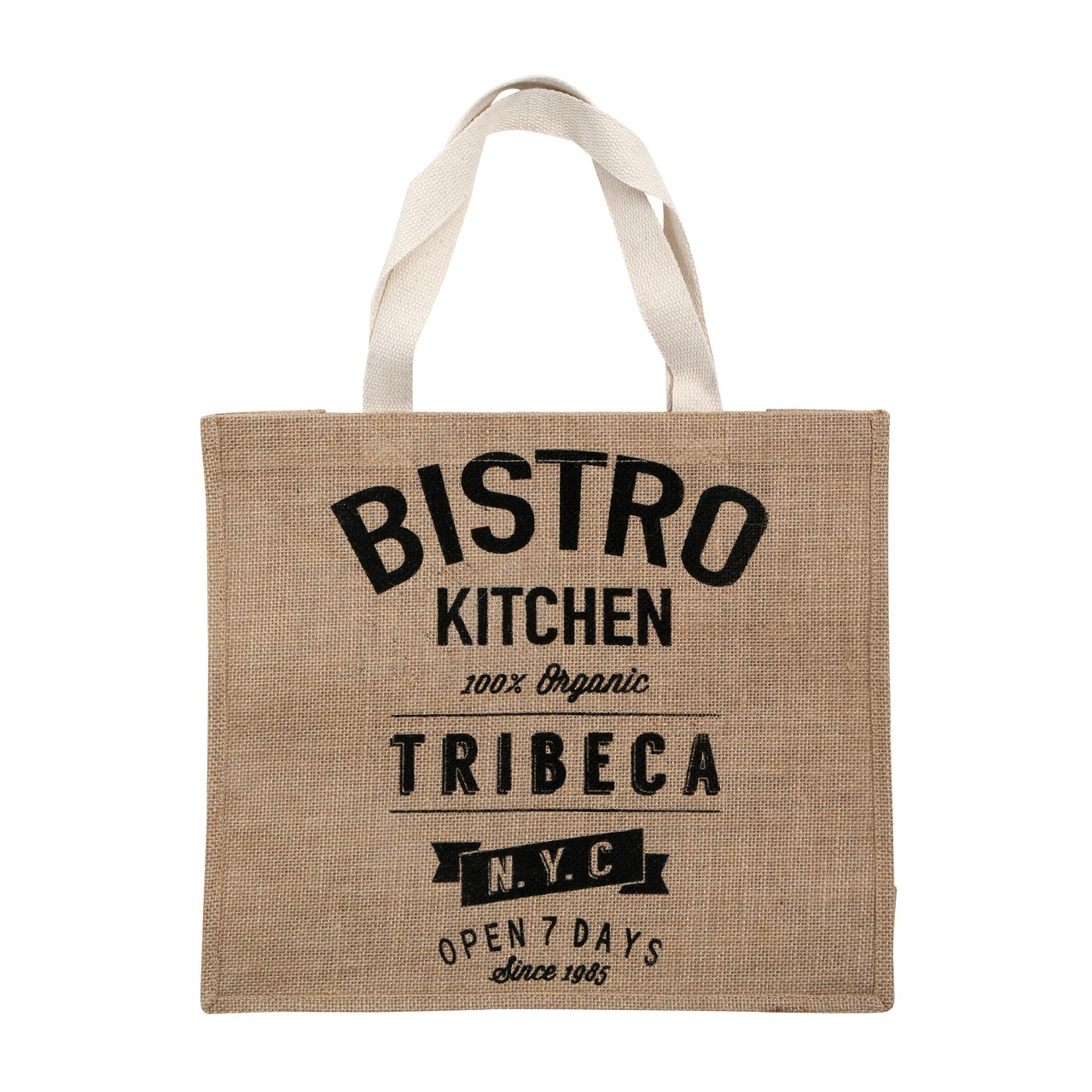 Bistro Jute and Cotton Shopper/Hesian, Natural