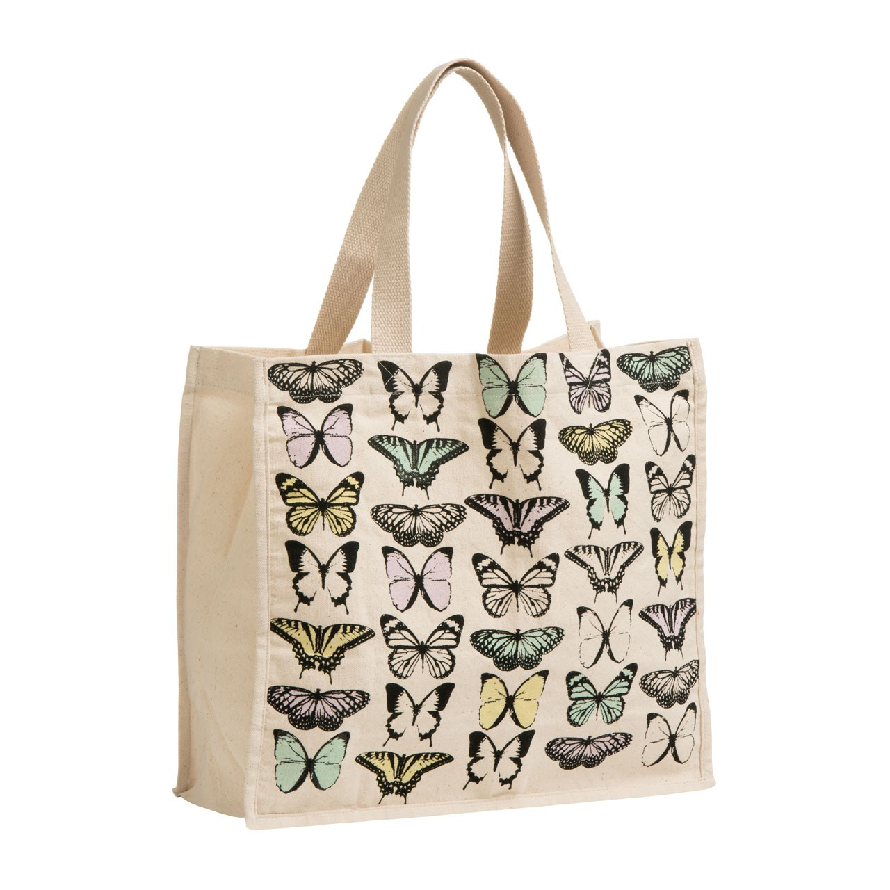 Butterfly Shopping Bag Cotton Canvas