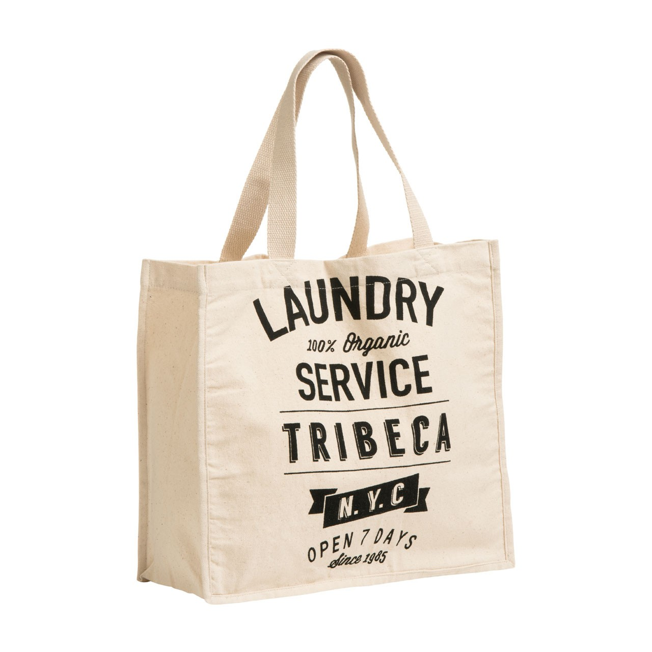 Laundry Shopping Bag Cotton Canvas