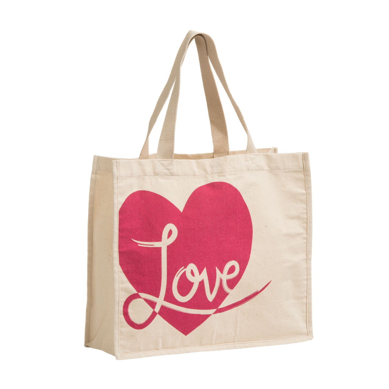Love Shopping Bag Cotton Canvas
