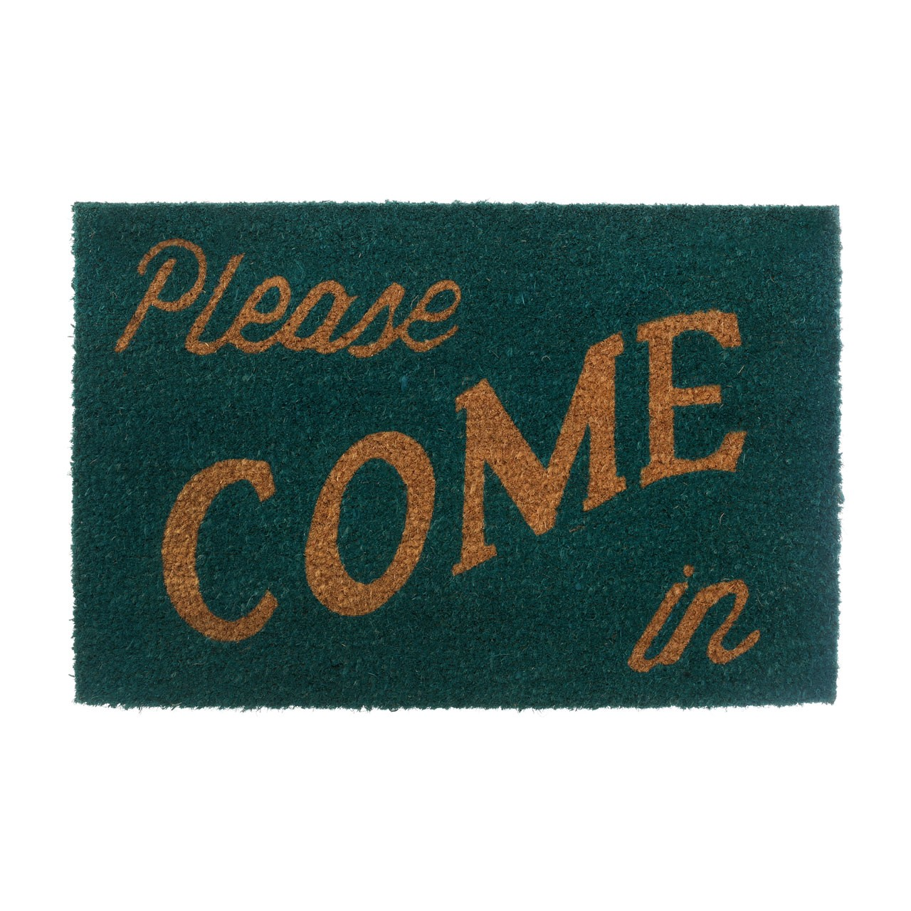 "Prime Furnishing ""Please Come In"" Doormat, - Green/Natural"