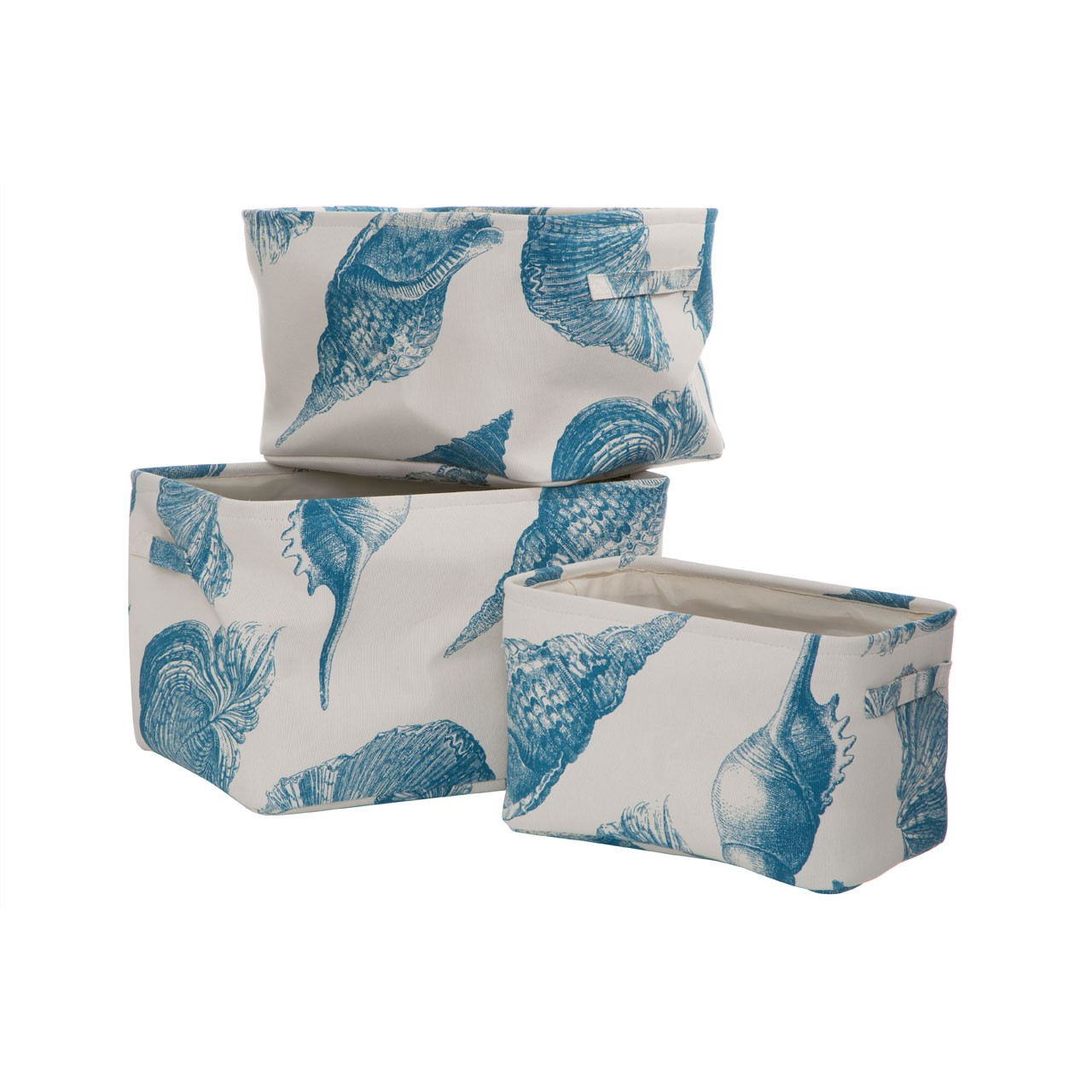 Prime Furnishing Echo Storage Boxes - Natural & Blue - Set of 3