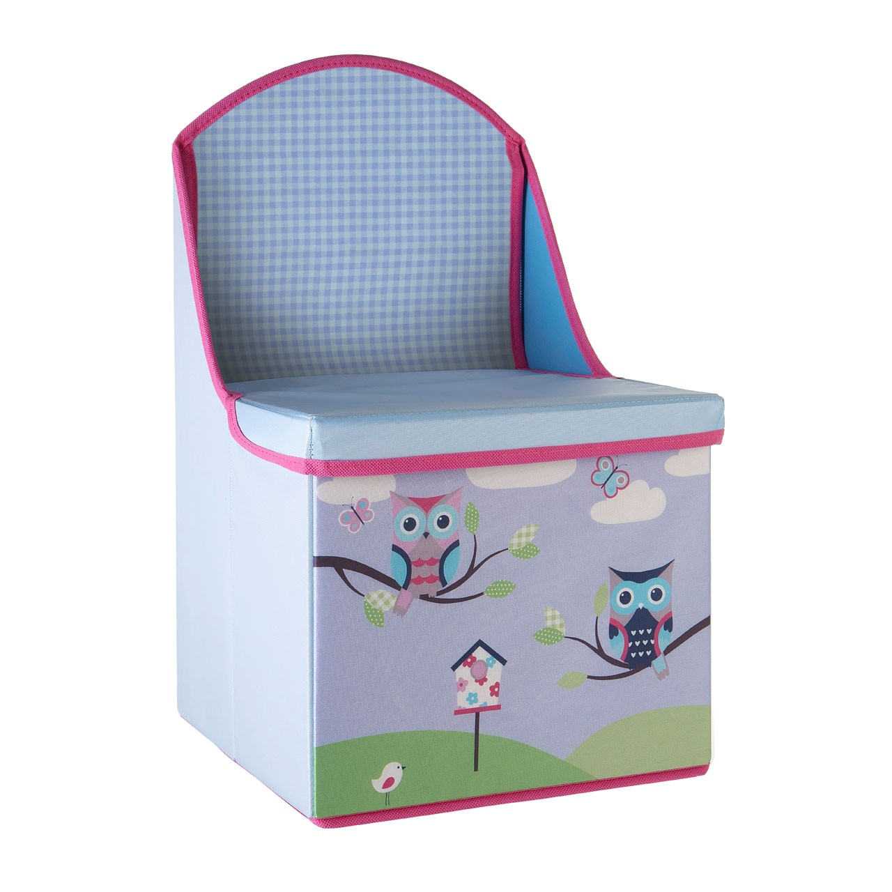 Prime Furnishing Children's Owl Design Storage Box/Seat - Purple
