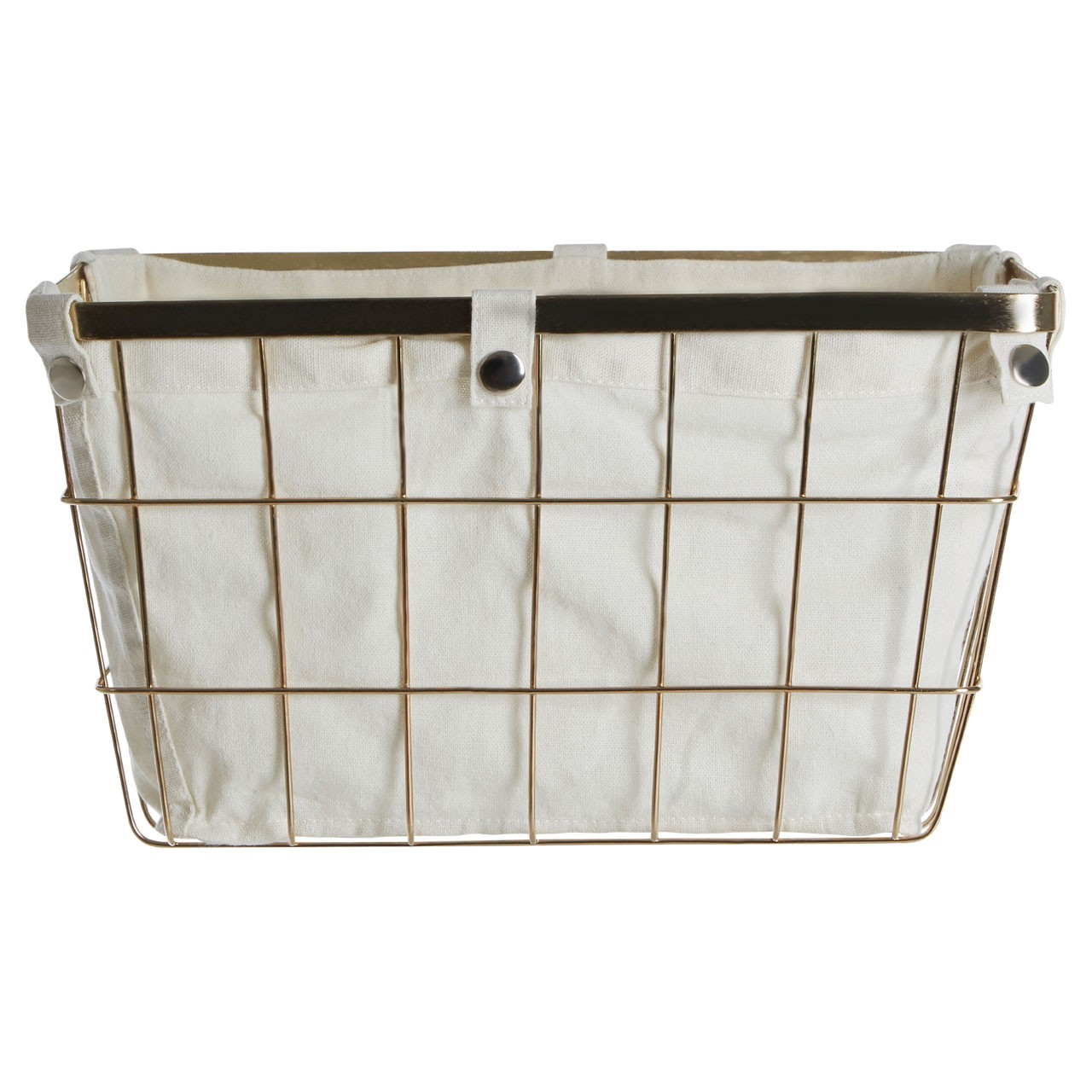 Prime Furnishing Rectangle Storage Basket - Gold plated Wire