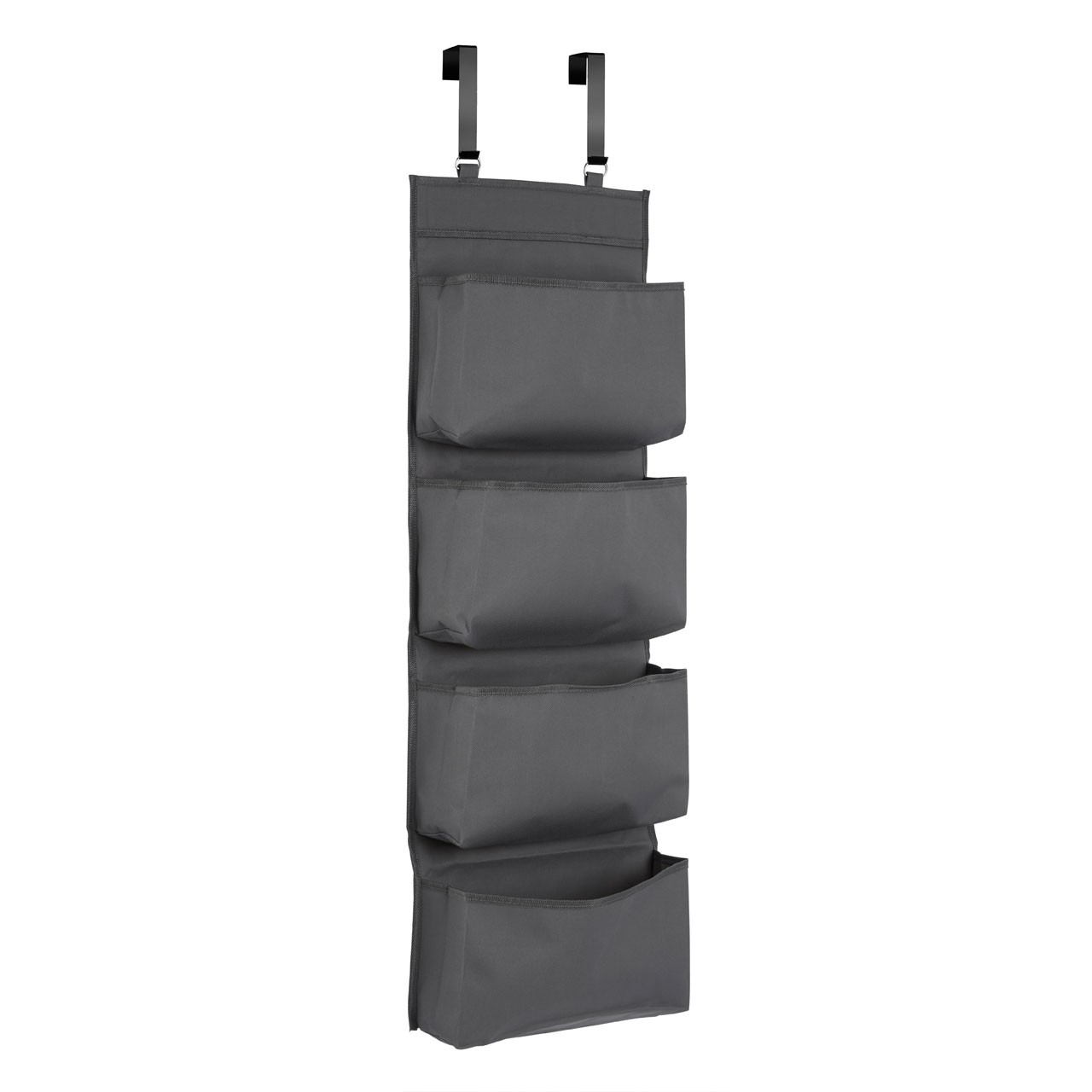 Prime Furnishing 4-Tier Over Door Hanging Organiser - Grey