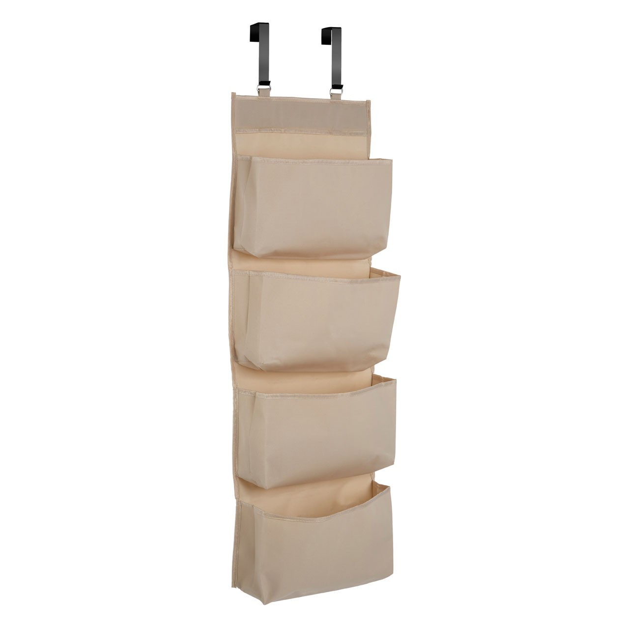 Prime Furnishing 4-Tier Over Door Hanging Organiser - Cream