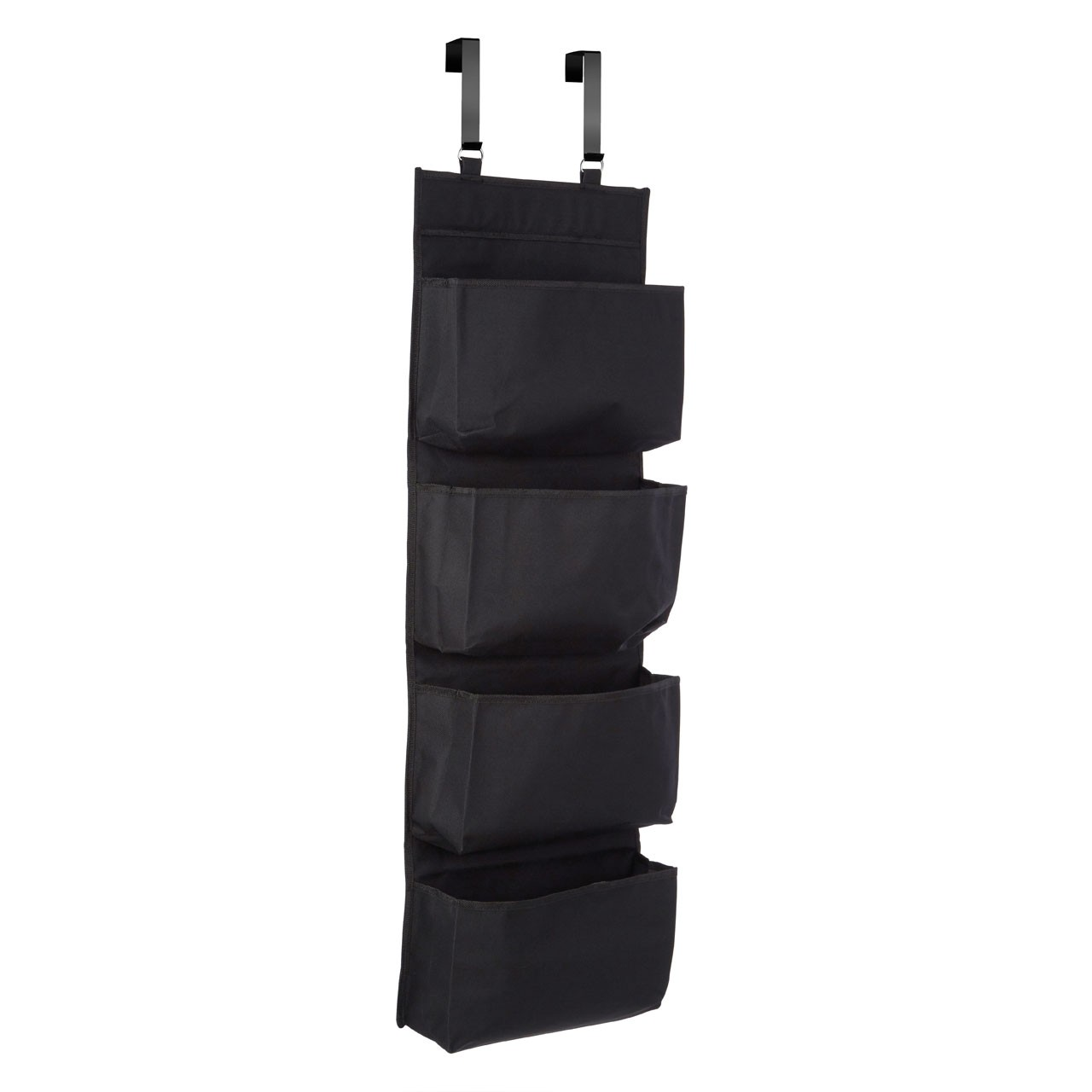 Prime Furnishing 4-Tier Over Door Hanging Organiser - Black