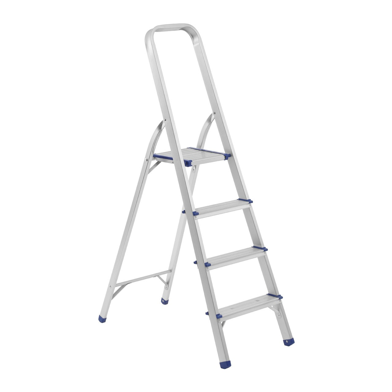Prime Furnishing 4 Step Folding Ladder, Aluminium