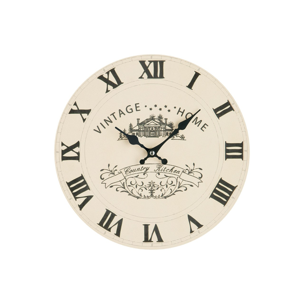 Vintage Home Wall Clock - Cream