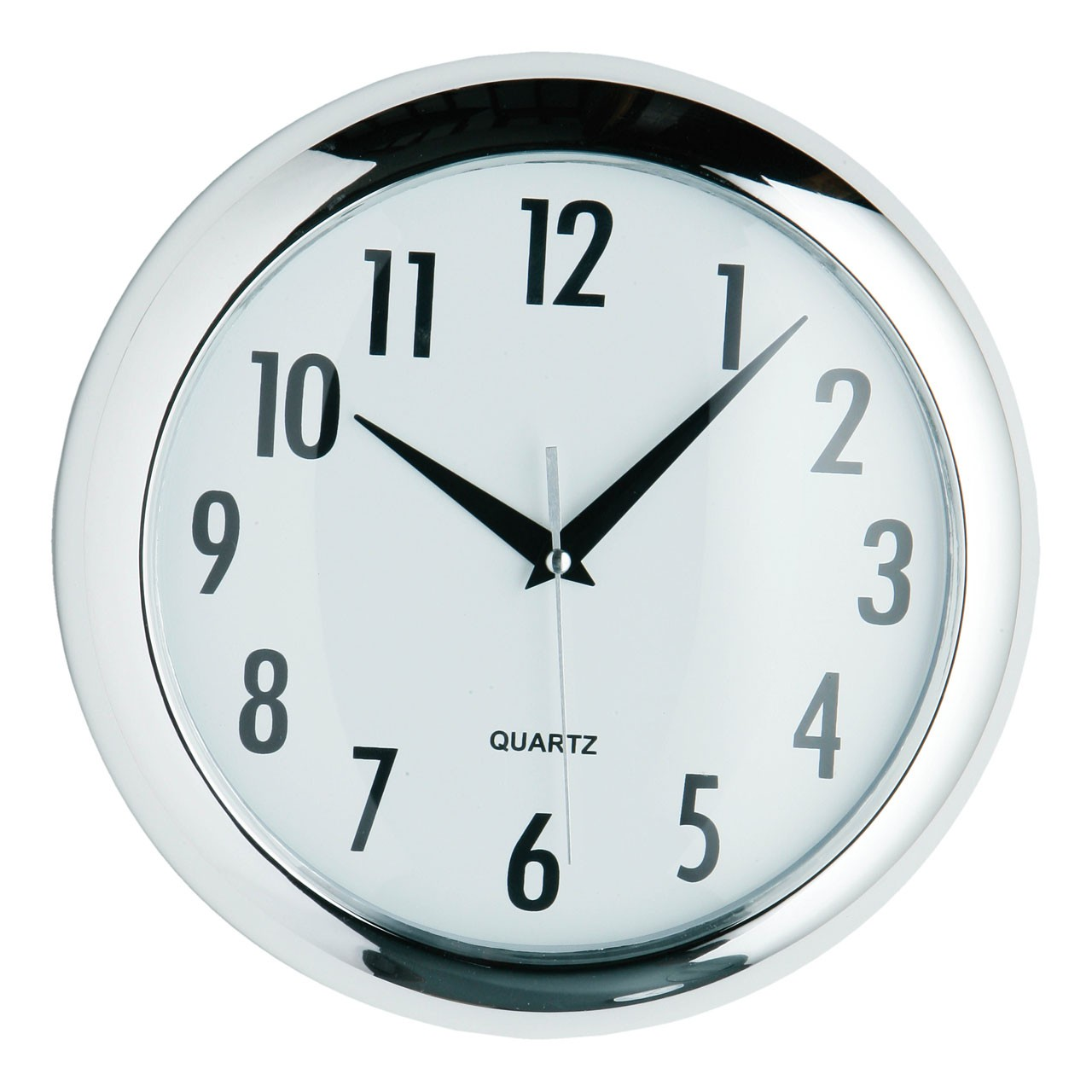 Round Halo Wall Clock - Chrome Finish
